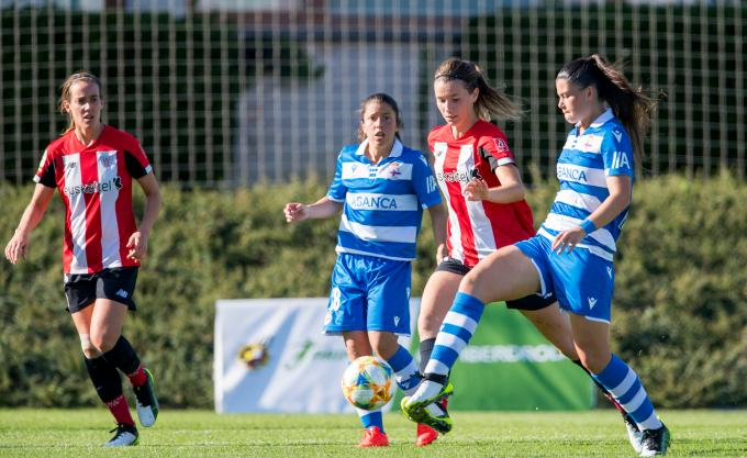 Damaris Egurrola frente al Deportivo en Lezama (Foto: Athletic Club).