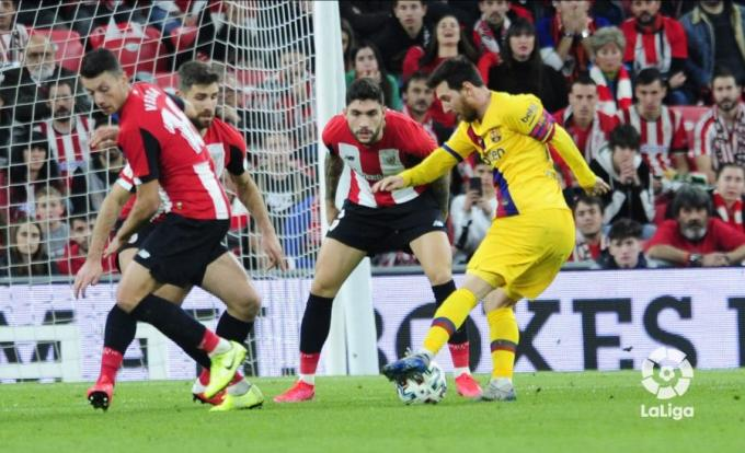 Leo Messi, ante el Athletic (Foto: LaLiga).
