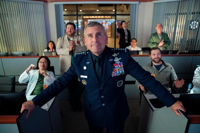 Steve Carrel en Space Force (Foto: Netflix).