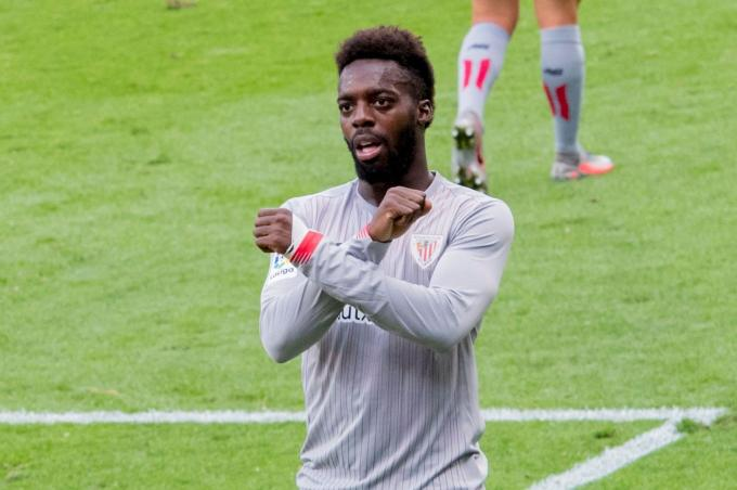Iñaki Williams marca el cambio ante el Eibar en Ipurua (Foto: Athletic Club).