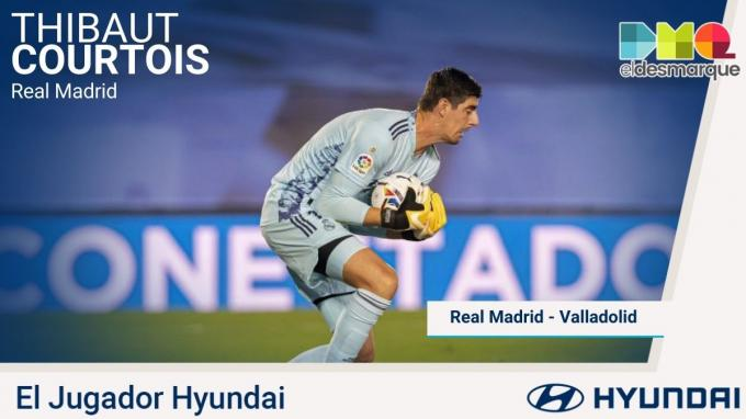 Courtois, el Hyundai del Real Madrid-Real Valladolid.