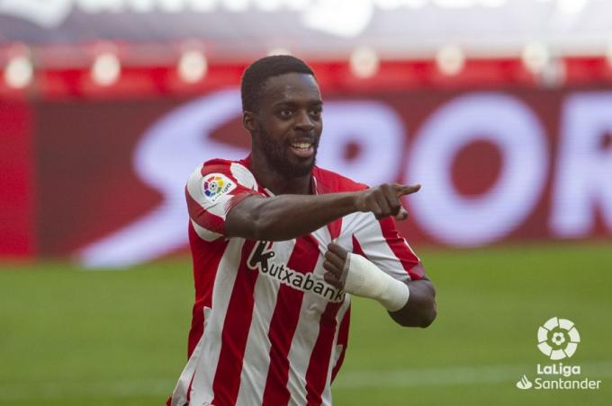 Iñaki Williams celebra su gol en el Athletic-Levante (Foto: LaLiga).
