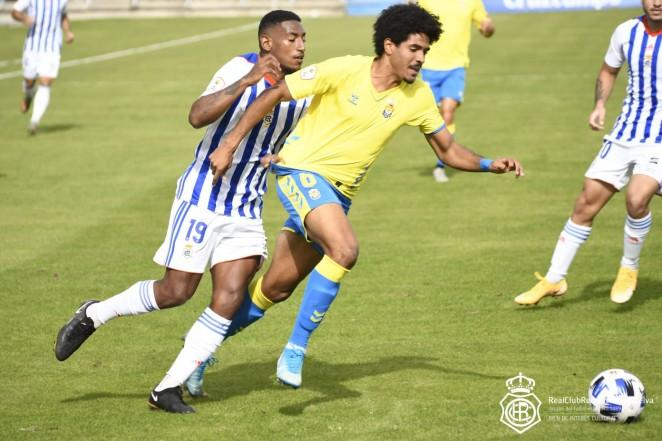Un lance durante el Recreativo-Las Palmas Atletic (Foto: Recreativo)
