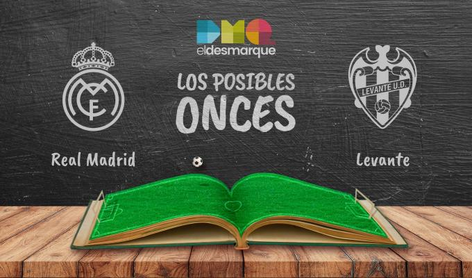 Posibles onces del Real Madrid-Levante.