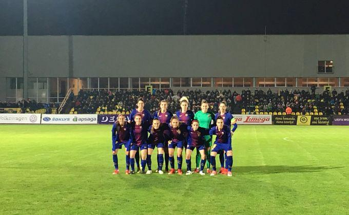 Once inicial del Barça.